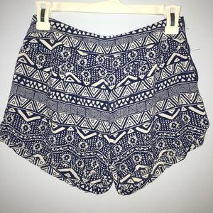 Charlotte Russe Tribal Print Shorts
